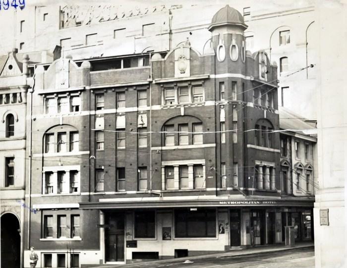 Metropolitan Hotel George Street sydney 1949