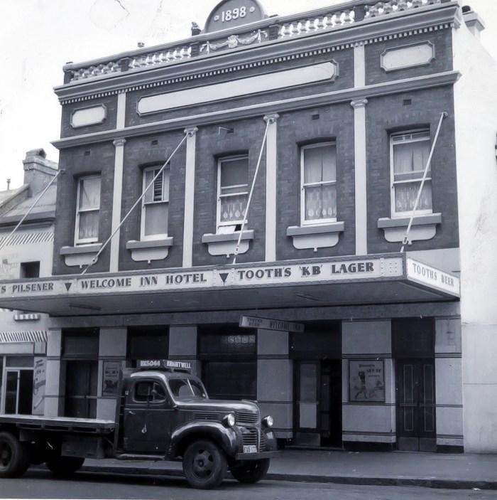 Welcome Inn Hotel Sussex Street Sydney 1960