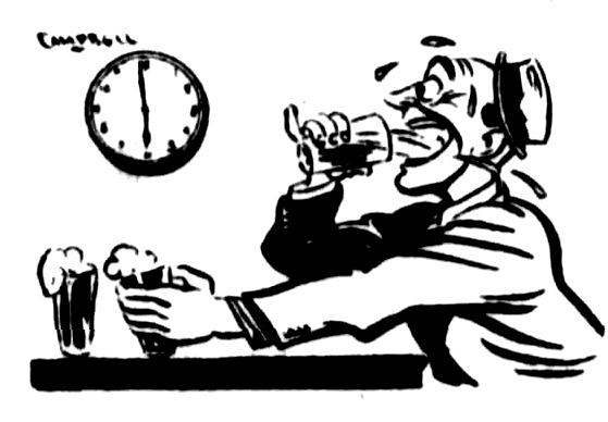six oclock swill cartoon 1946