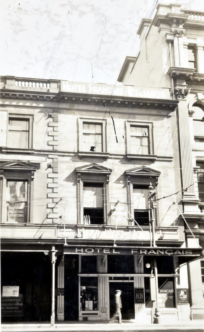 Cafe Francais Hotel later Menzies Hotel October 1930 ANU