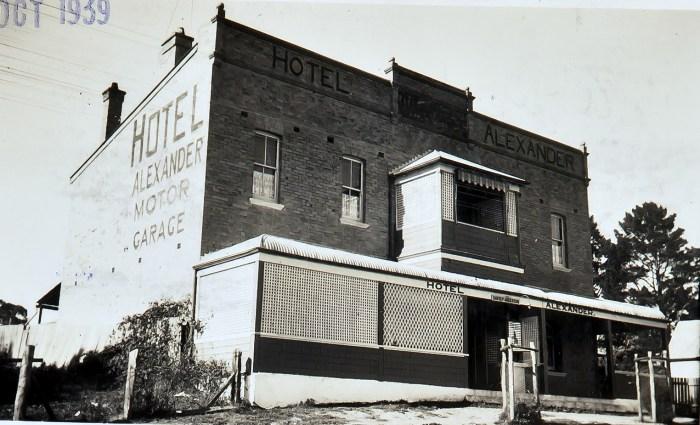 Alexander Hotel Rydal NSW 1939 ANU NBA