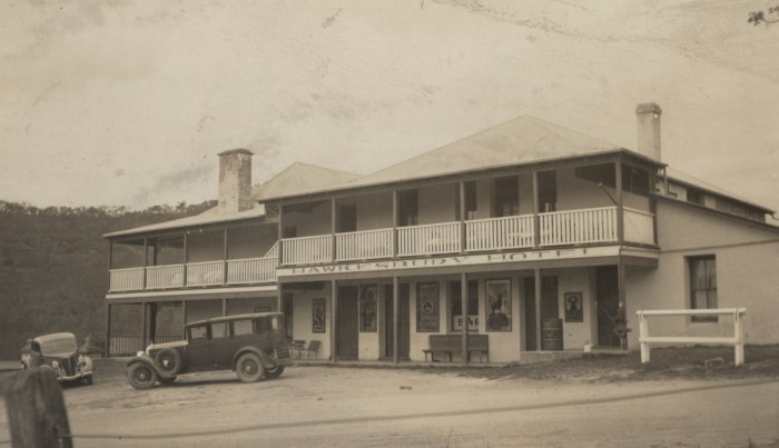 Hawkesbury Hotel later Wisemans Inn Hotel Wisemans Ferry September 18 1937 NBA ANU