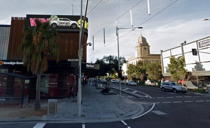 Site of former Victoria Hotel Geelong Google Streetview