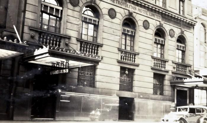 Ushers Metropolitan Hotel 1930 NBA ANU