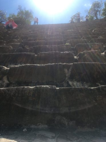 the stairs were steeeeep