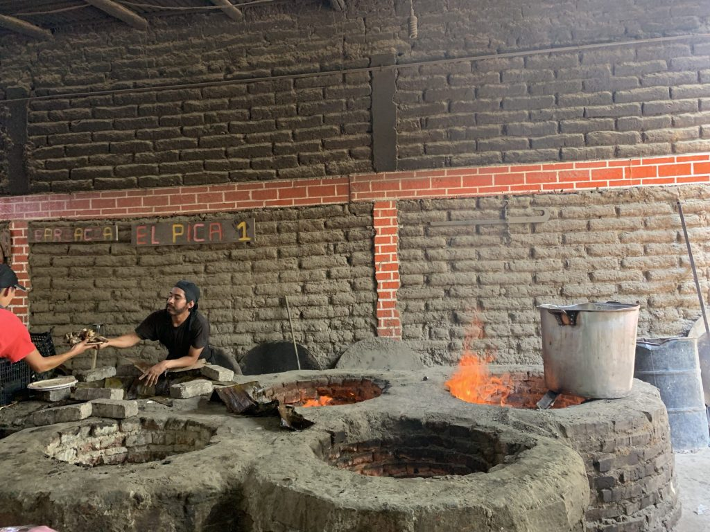 The pits where the barbacoa as seen on Netflix is prepared.