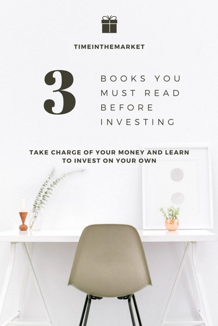 Best beginner investing books pinterest graphic