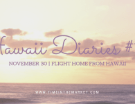 Hawaii Diaries #16 – Flight Home From Hawaii