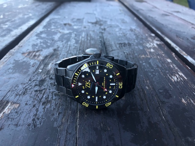 ZK No.2 GMT Uhr Black and Yellow