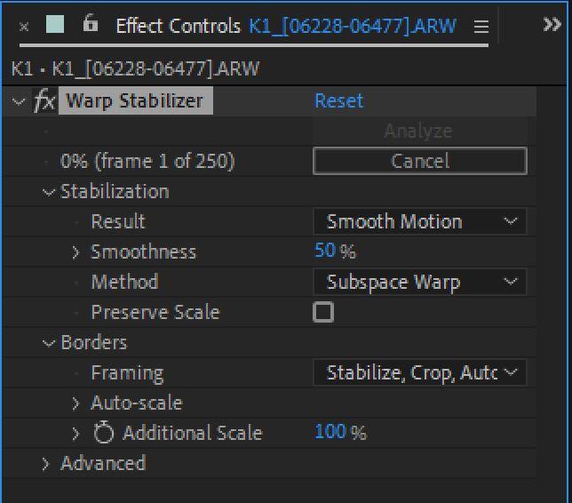 Warp Stabilizer