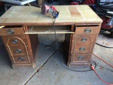 Even with its rough appearance, this desk has a lot of use left in it
