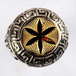 anello bianco fiore vita giallo