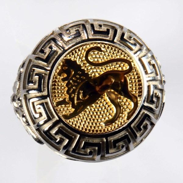 anello bianco leone giallo