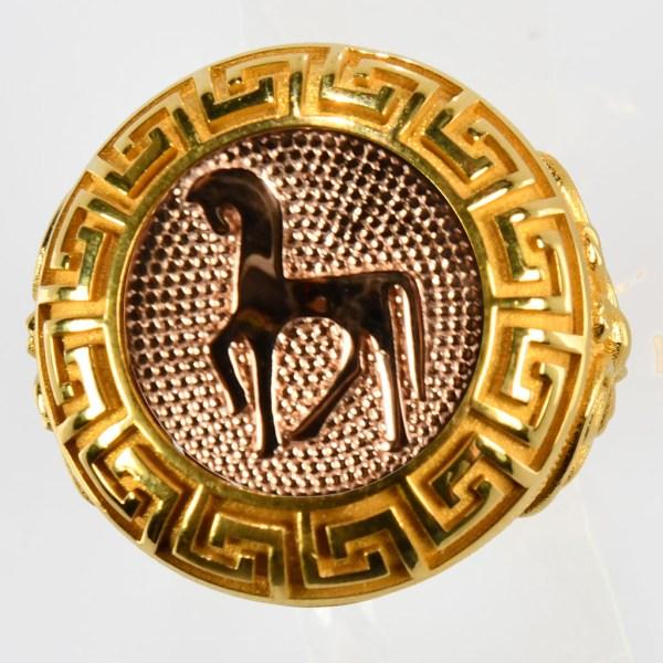 anello giallo cavallo rosso