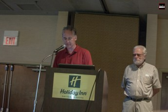 """David G. Barnes, author of Herb Adams' new book, """"Blood, Sweat and Gears,"""" was in attendance with Herb to discuss the history of Herb's career as well."""