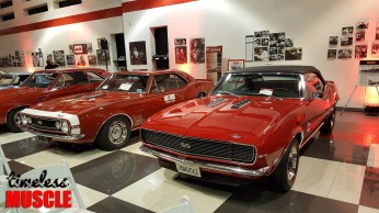 John Delorean's '68 SS 396 next to the first (pre)production '67 Camaro in California