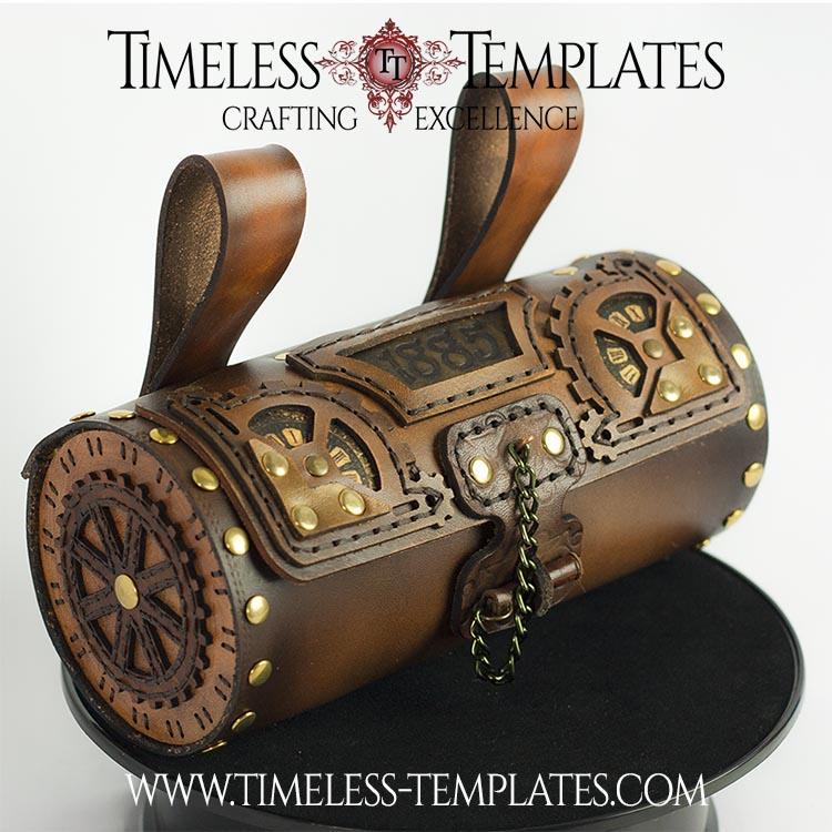 leatherwork barrel bag
