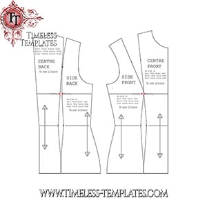 sewing pattern bodice body block sloper