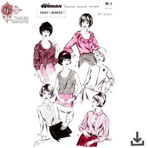 woman w1 blouse sewing pattern