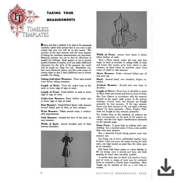 1939 Buttericks book of dressmaking