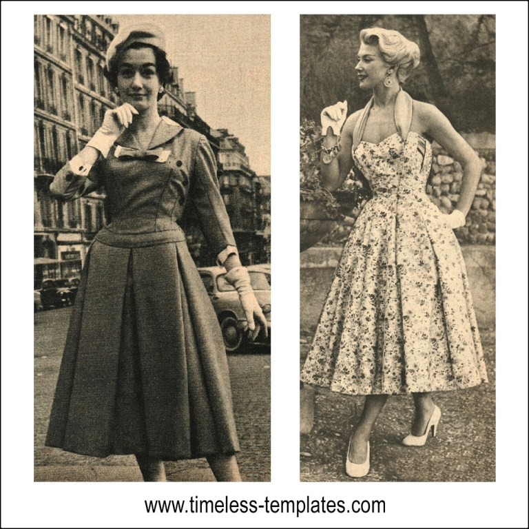 1950s dress sewing tutorial vintage plus sized clothing