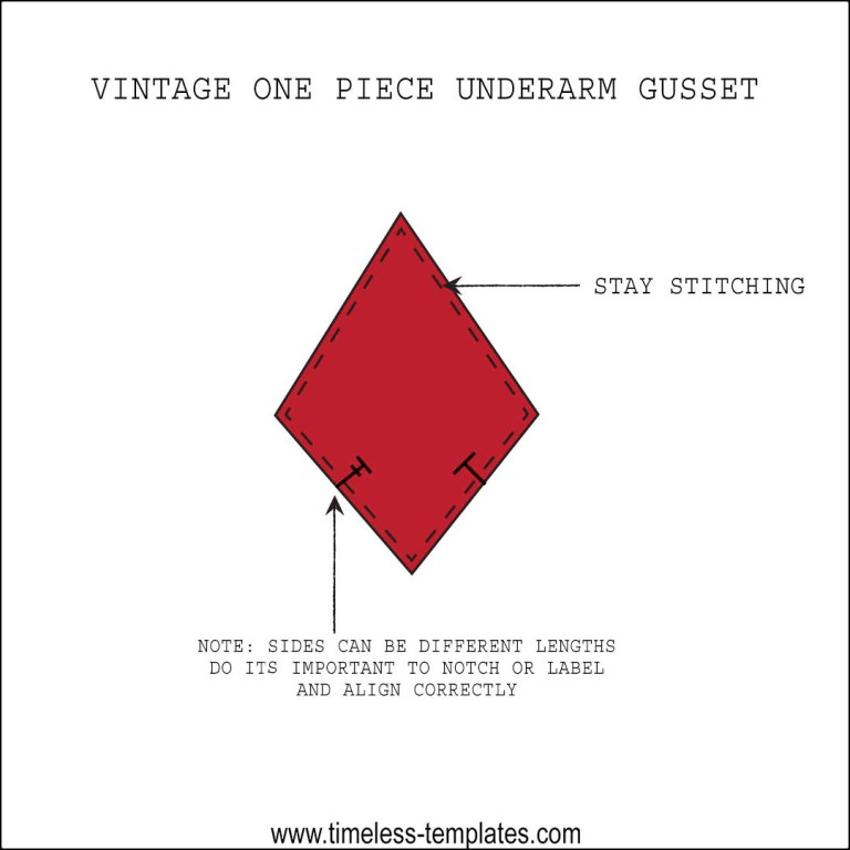 learn how to insert underarm gusset