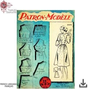 patron vintage tablier vintage apron sewing pattern