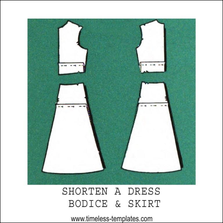 shorten a dress sewing pattern