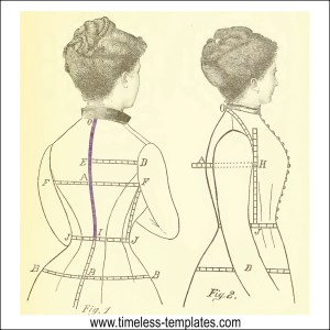 vintage sewing pattern size charts