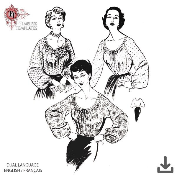 free vintage french sewing pattern plus size