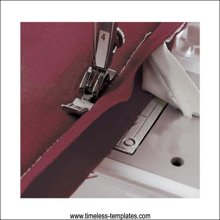 closing seam invisible zipper