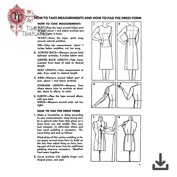 1939 How to Sew book by McCalls