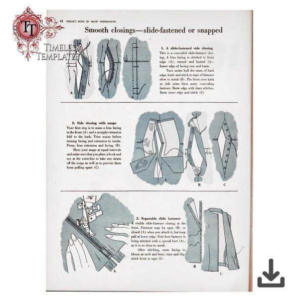 a vintage vogue book of dressmaking