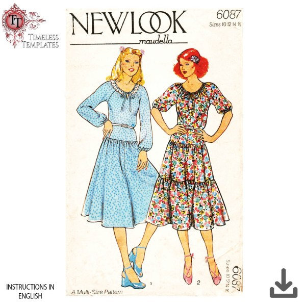 new look maudella 6087 1970s sewing pattern