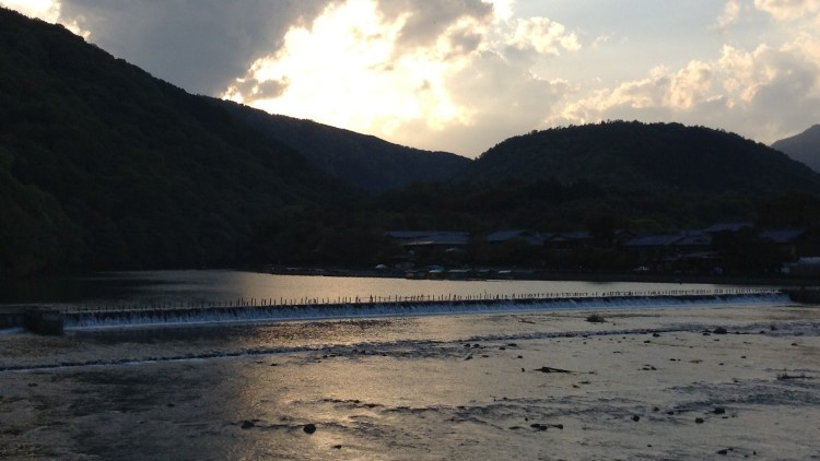 Arashiyama, Kyoto: Sunset over Katsura River - no filters!