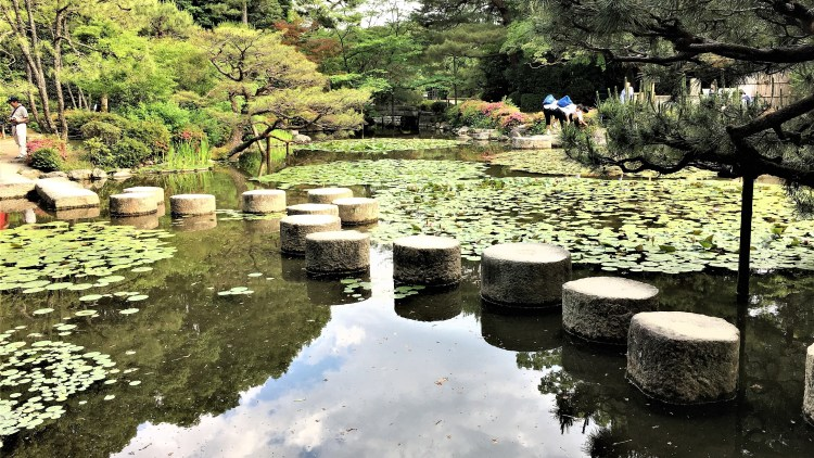 Heian Shrine, Kyoto: Stone steps!! Remember Charlotte in 'Lost in Translation'? Here it is!