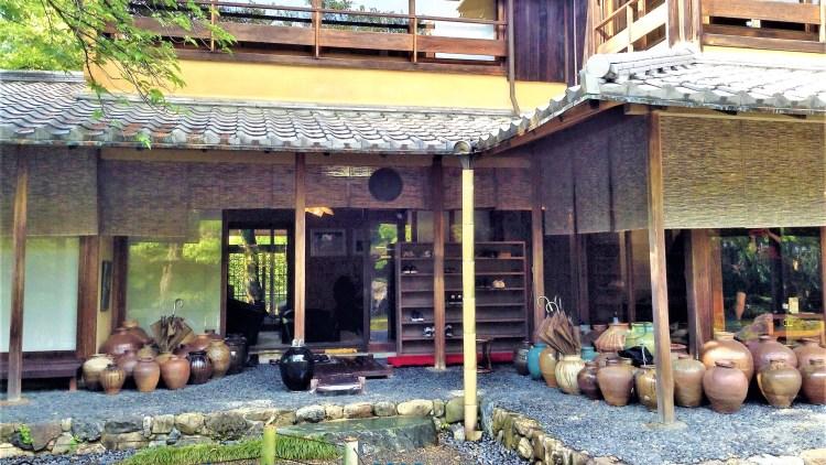 Tofu restaurant in Arashiyama: A simplistic entrance to Yudofu Sagano