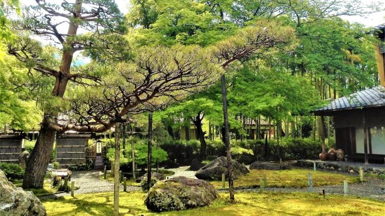 The zen garden surrounding Yudofu Sagano