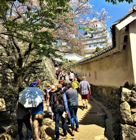 Winding walled passageways takes you to the main entrance of Himeji Castle.Ultimate 1 day guide to the best of Himeji, Japan