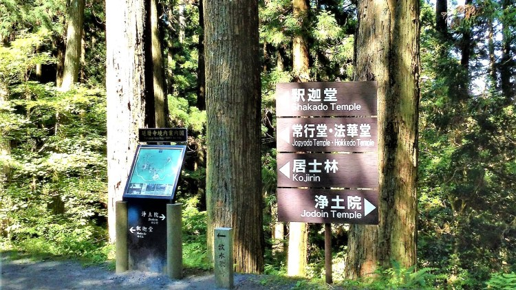 There are clear sign-posting available to get you to the temples in Mount Hiei.