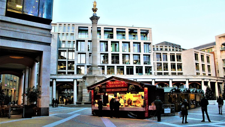 Christmas market at Paternoster Square, London