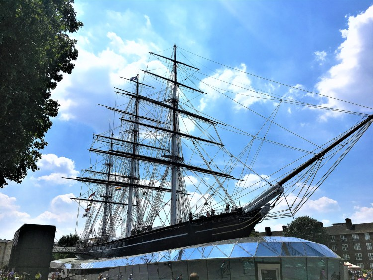 The Cutty Sark, Greenwich - the world's only surviving tea clipper.