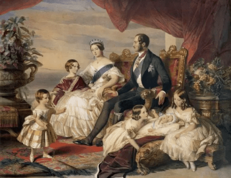 Queen Victoria, Prince Albert and their children
