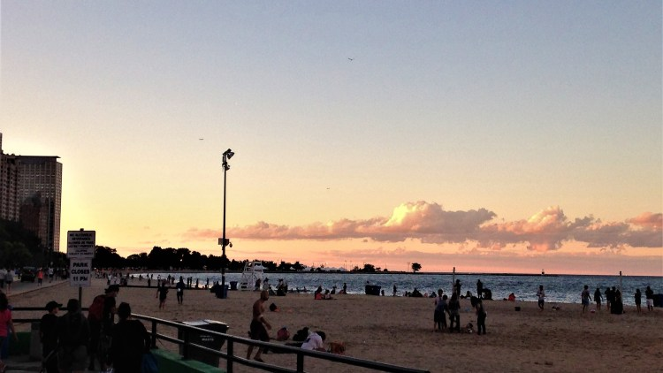 The evenings at Lakefront, still a very busy place.