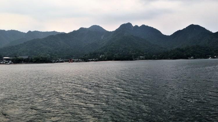 Approaching Miyajima Island, Hiroshima: