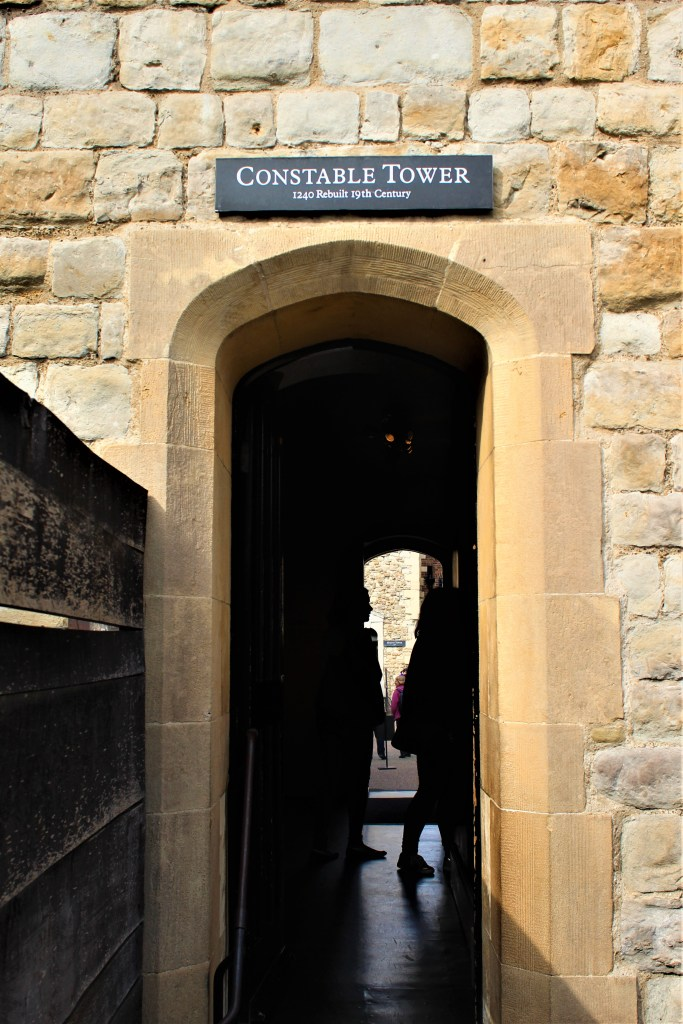 The entrance to the Constable Tower at the Tower of London
