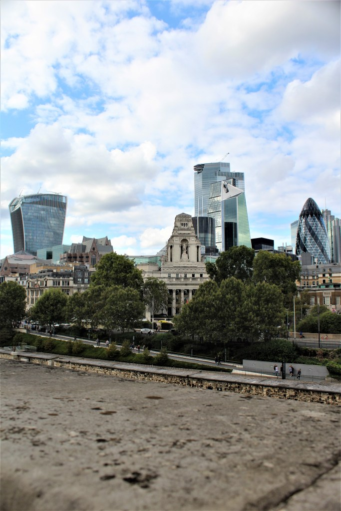 London's skyline and the Walkie Talkie in the distance