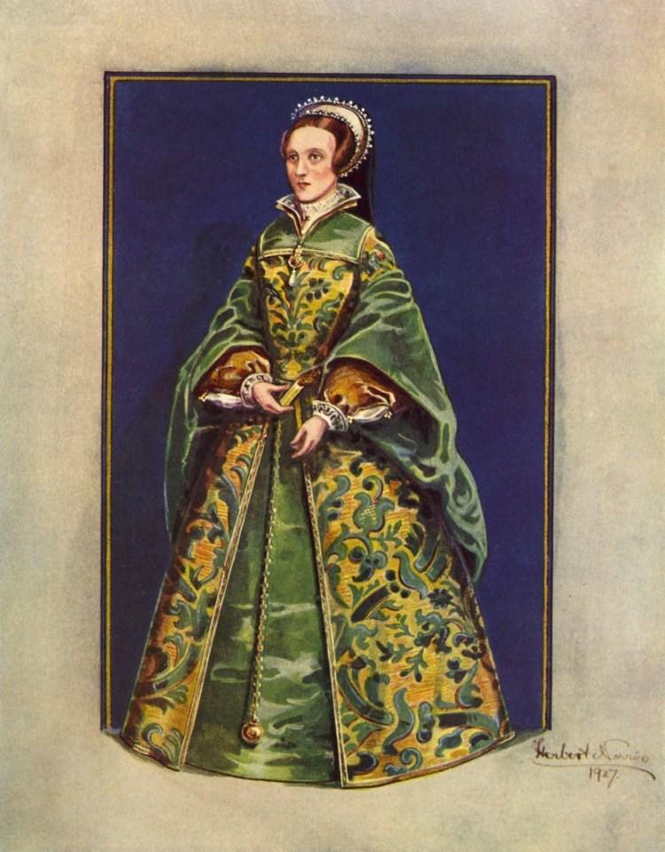 Lady Jane Grey - on her Coronation