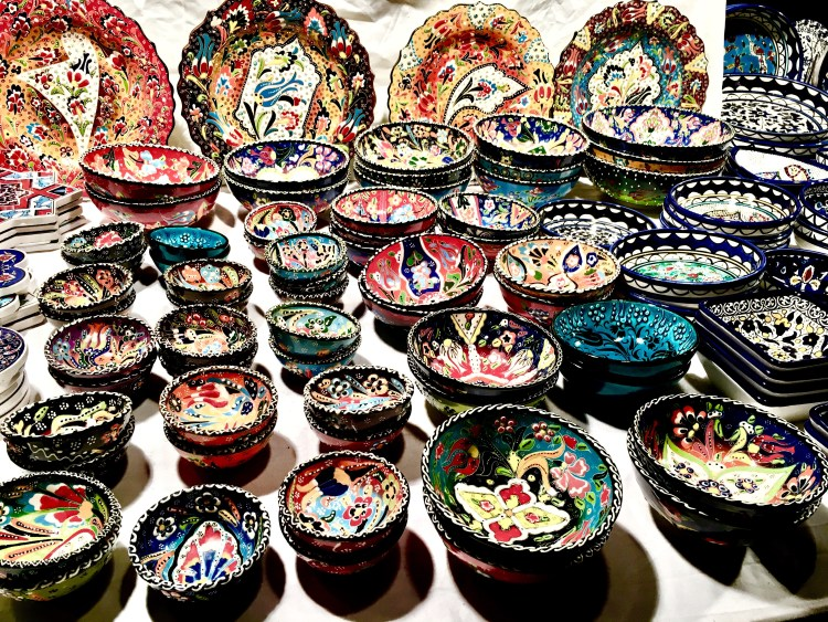 Christmas Markets in London | Handpainted ceramics at Leicester Square Christmas Market