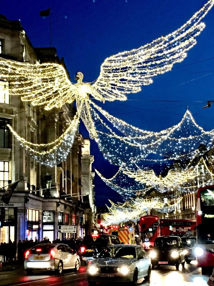 Christmas Lights Display at Regents Street
